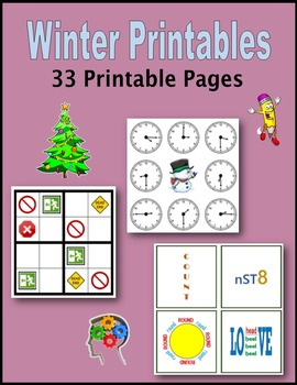 Winter Printables (Sponge Activities, Early Finishers, Extra Credit)
