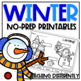 Winter Printables (Autism and Special Education)