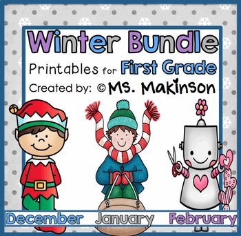 Winter Printables (BUNDLE) - First Grade Literacy and Math
