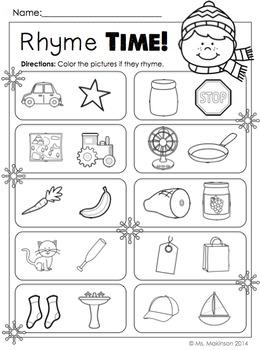 Winter Printables (BUNDLE) - Kindergarten Literacy and Math