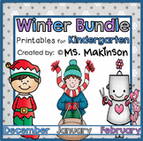 Winter Printables (BUNDLE) - Kindergarten Literacy and Math