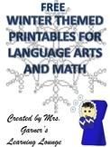 Winter Printables FREEBIE