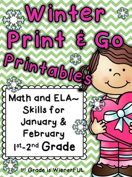 Winter Printables~ Print and Go for January & February  1st-2nd Grade