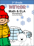 Winter Math And ELA Printables - 1st Grade