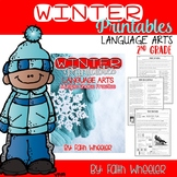 Winter Printables for Language Arts