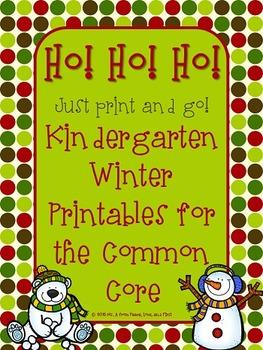 Winter Printables for the Kindergarten Common Core