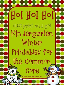 Winter Printables for the Kindergarten Common Core