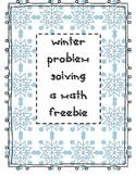Winter Problem Solving