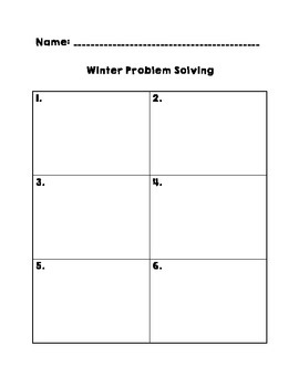 Winter Problem Solving