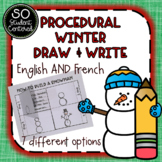Winter Procedural Writing - English AND French #digitaldollarspot