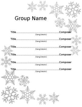 Winter Program Template