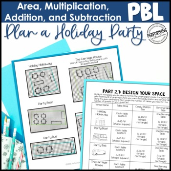Winter Project Based Learning for 3rd Grade: Plan a Holiday Party