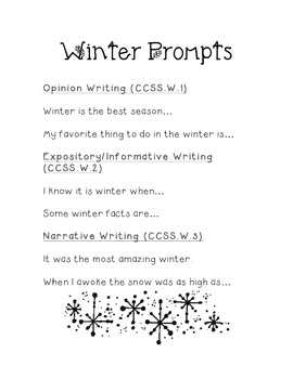 Winter Prompts