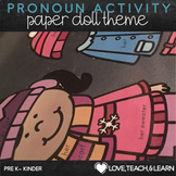 Winter Pronoun Activity : he, she, they, his, her, their (sight word activity)