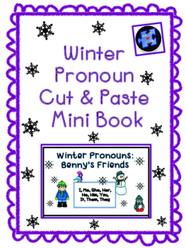 Winter Pronoun Mini Book