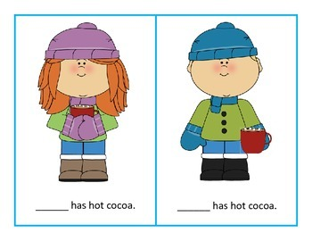 Winter Pronoun Cards