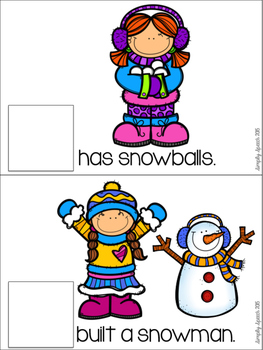 Winter Pronoun Flip Book!