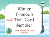 Winter Pronoun Task Card Sampler