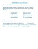 Winter Pronoun Worksheet
