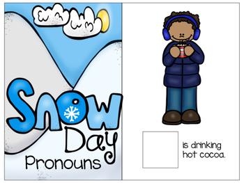 Winter Pronouns Interactive Book! (Freebie)
