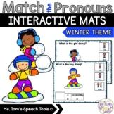Winter Pronouns-Interactive Mats #jan2019slpmusthave