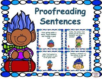 Winter Proofreading Sentences Center