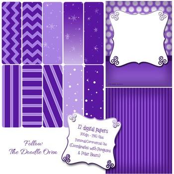 Winter Purple Digital Paper