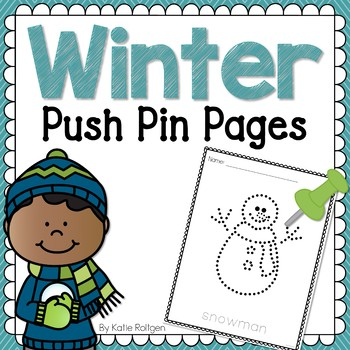 Winter Push Pin Pages