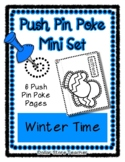 Winter - Push Pin Poke No Prep Printables - 6 Pictures & W
