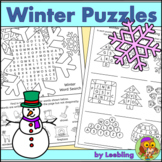 Winter Puzzle Activities - Crossword, Word Search and More
