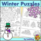 Winter Puzzle Activities - Winter Crossword, Winter Word S