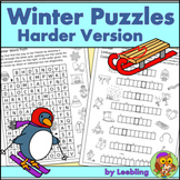 Winter Puzzle Activities – Harder Version