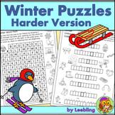 Winter Puzzle Activities – Harder Version