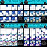 Winter Puzzle Clipart Tile Progressions