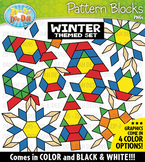Winter Puzzle Pattern Blocks Clipart {Zip-A-Dee-Doo-Dah Designs}