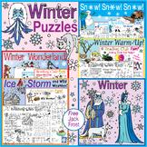 Winter Puzzles Bundle – Weather, Ice Storm, Winter Wonderl