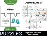 Winter Puzzles (basic vocabulary practice)