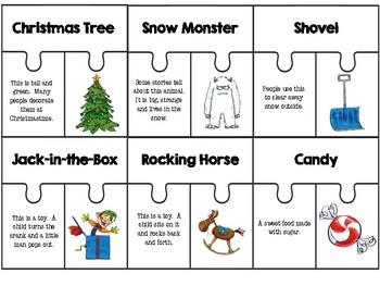 Winter Puzzles (basic vocabulary practice)