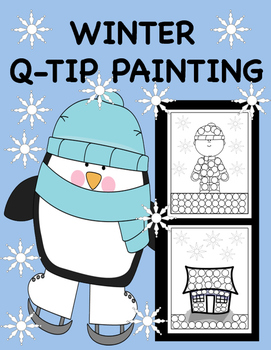 Winter Q-Tip Painting