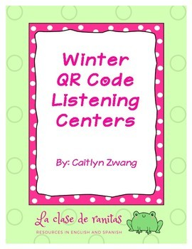 Winter QR Code Listening Centers