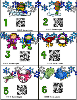 Winter QR Code Writing Prompts for Upper Grades