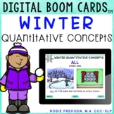 Winter Quantitative Concepts (Counting Language) Speech Therapy Boom Cards