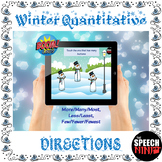 Winter Quantitative Directions Boom Cards