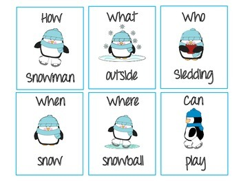 Winter Question Asking Activity - Developing Grammatically Correct Questions