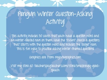 Winter Question Asking Activity - Developing Grammatically