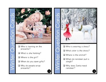 WH-Question Winter Photo Cards