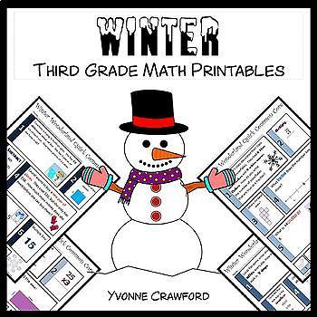 Winter No Prep Common Core Math (3rd grade)