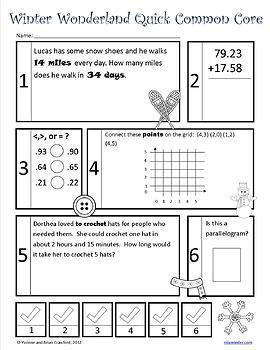 Winter No Prep Common Core Math (5th grade)