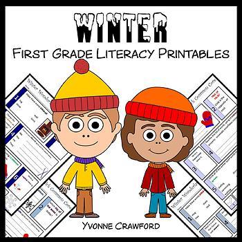 Winter No Prep Common Core Literacy (1st grade)