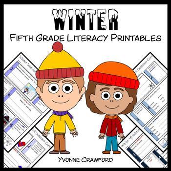 Winter No Prep Common Core Literacy (5th grade)